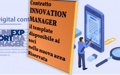 I services 2020 agli associati: Il contratto Innovation Manager e l'area riservata