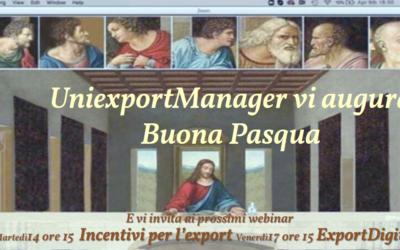 I webinar dopo Pasqua: Finanziamenti/Incentivi e Export Digitale
